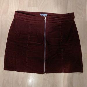 Burgundy Cordouroy Skirt